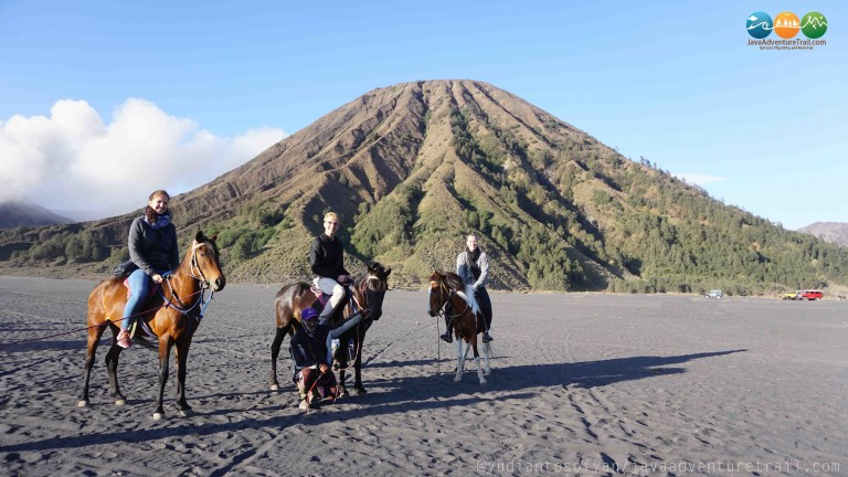 Riding Horses in Mt. Bromo area