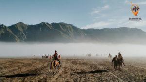 Horse rider in Mount Bromo