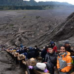 mount bromo with clients