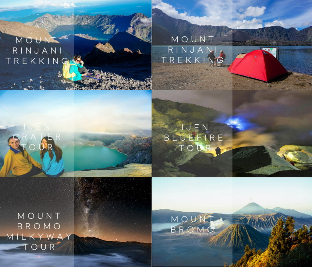 Mount Rinjani Trekking and Ijen Bromo Tour from Bali (7 Days – 6 Nights)