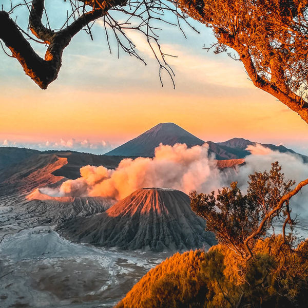 sunrise in mount bromo