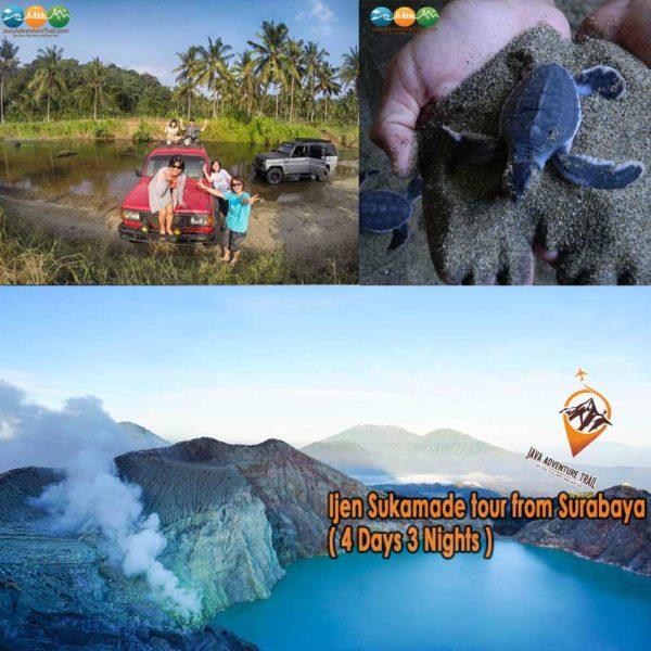 Ijen Sukamade tour from Surabaya ( 4 Days 3 Nights )