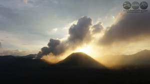 sunset at bromo area
