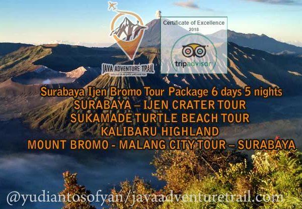 Surabaya Ijen Bromo Tour Package 6 days 5 nights