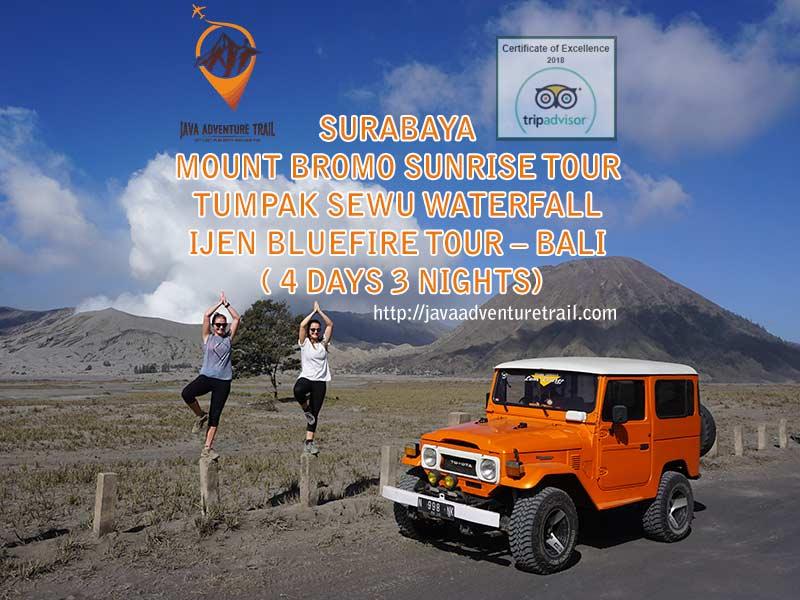 Surabaya Bromo Ijen Bali Tour 4D3N, Bromo Ijen Bali from Surabaya
