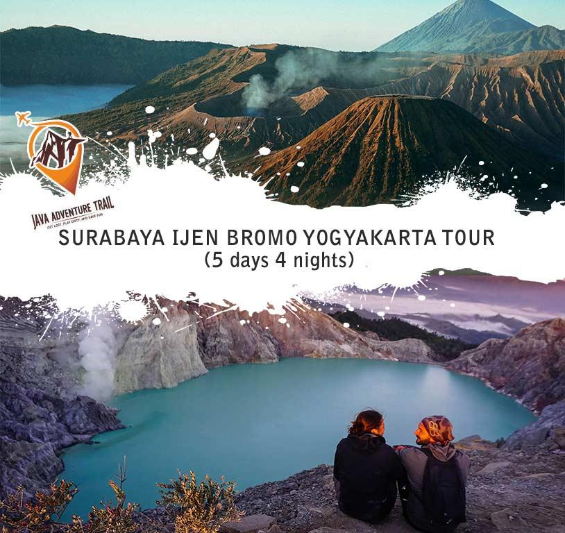 Surabaya Ijen Bromo Yogyakarta Tour 5D4N